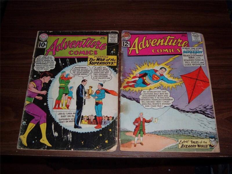 Adventure Comics 287- 378----lot of 18 comic books