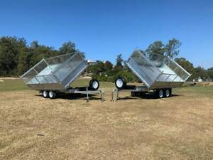 3 WAY TIPPING Galvanised 3.5 Ton Trailer Melbourne Region Preview