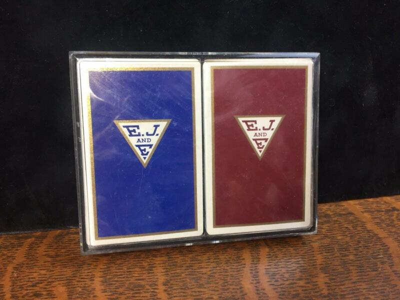 Vintage E.J.& E. Railroad Chicago Outer Belt Train Double Deck Playing Cards NOS