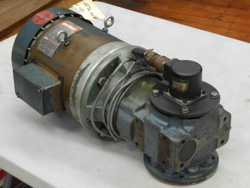 #67 Leeson Wattsaver Motor 3HP  208-230/460V David Brown 8:1 Ratio Gear Drive