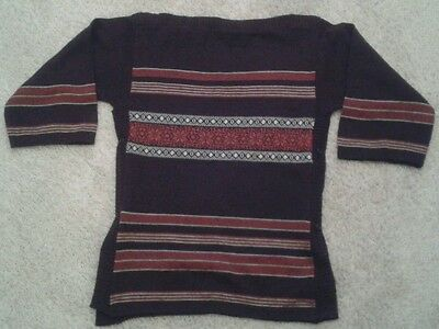Woman's Vintage Snowflake Jumper 60's Size 14