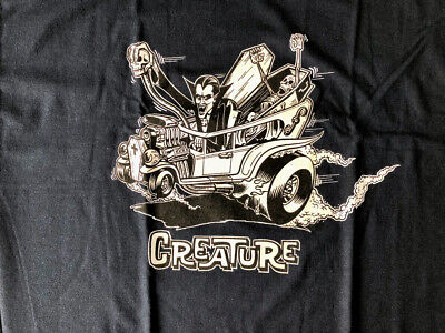 Vintage Creature Skateboard Monster Mobile T-shirt Navy X-Large New without Tags