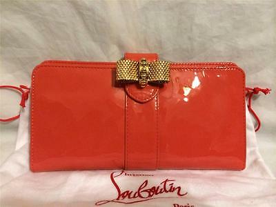 Christian Louboutin Sweety Charity Patent Leather Bow Wallet Clutch Bag $1695