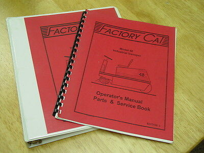 Factory Cat Industrial Sweeper Model 48 Partsoperationservice Manuals 1994-95