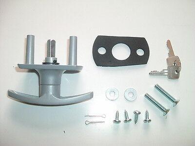 HENDERSON Garage Door LOCK T Handle parts 35mm SHORT SHAFT Repair Kit Spindle