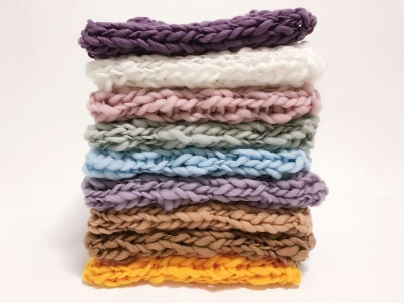 Photography Props Chunky Accessories Crochet Baby Knit Blanket Soft Newborn