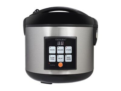 Tayama TRC-50 5Cup Digital Rice Cooker & Food Steamer, Black
