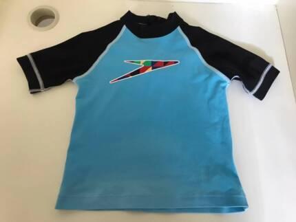 Boys Speedo Sun Top Rash Vest with Zip Size 4 - Excellent Conditi