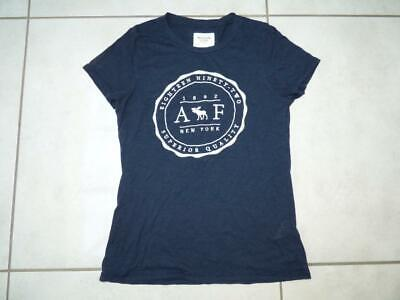 Womens Abercrombie & Fitch New York logo t-shirt top. Size Large UK 12/14