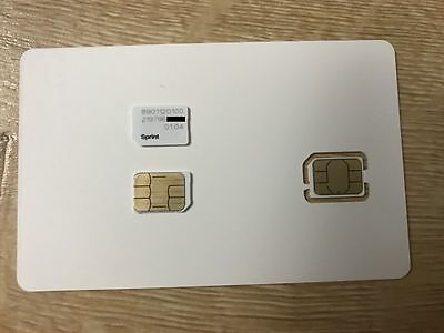 SPRINT, BOOST VIRGIN MOBILE NANO SIM Card FOR ALL PHONES USING NANO SIM 4FF
