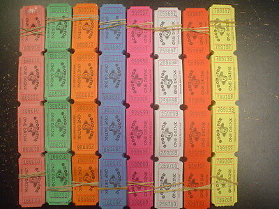 200 Good for One Drink Tickets Choose From 8 Colors Carnival Festival Supplies - Carnival Ticket