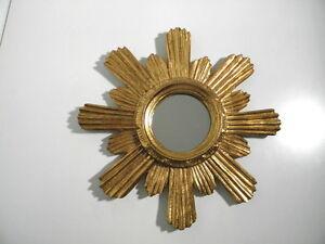 Schöner alter Sonnen-Spiegel - goldfarben - 37cm - vintage -