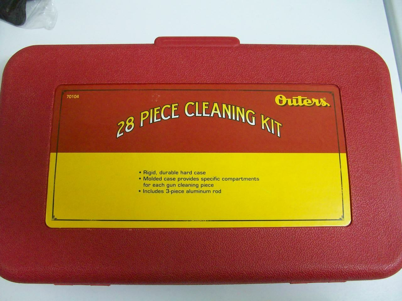 COMPLETE OUTERS RIFLE /SHOTGUN/PISTOL CLEANING KIT W HARD CA