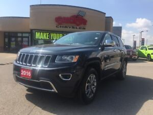 2016 Jeep Grand Cherokee Limited P-ROOF REAR CAMERA 3.6 V6 HEATE