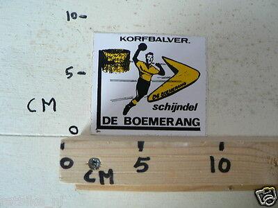 STICKER,DECAL DE BOEMERANG KORFBALVER. SCHIJNDEL