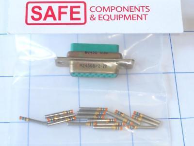 M243082-2f Mil-spec D-sub Connector Kit Qty-1 Size-2 15-socket 20-24awg Mm-351