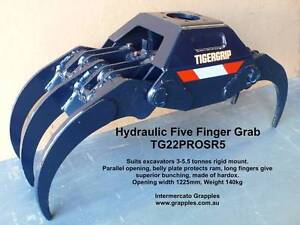 Excavator Grab - Hydraulic 5 Finger, up to 5.5 tonne rigid mount Dandenong South Greater Dandenong Preview