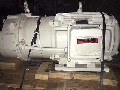 Louis Allis CJ4C 15HP Electric Motor Frame 324TS / 900/450 RPM w/ Stearns Brake