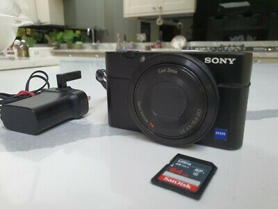 Sony Cyber-shot RX100 20.2 MP Digital Camera - with 64gb card