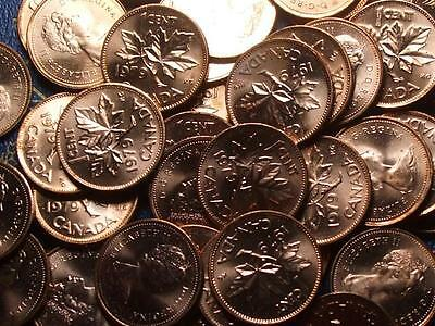 1979 BRILLIANT UNC RED CANADIAN SMALL CENTS       BUY ONE OR BUY THEM ALL