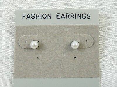 1 Dozen 6mm Faux Pearl Stud Pierced Earrings Wholesale Priced
