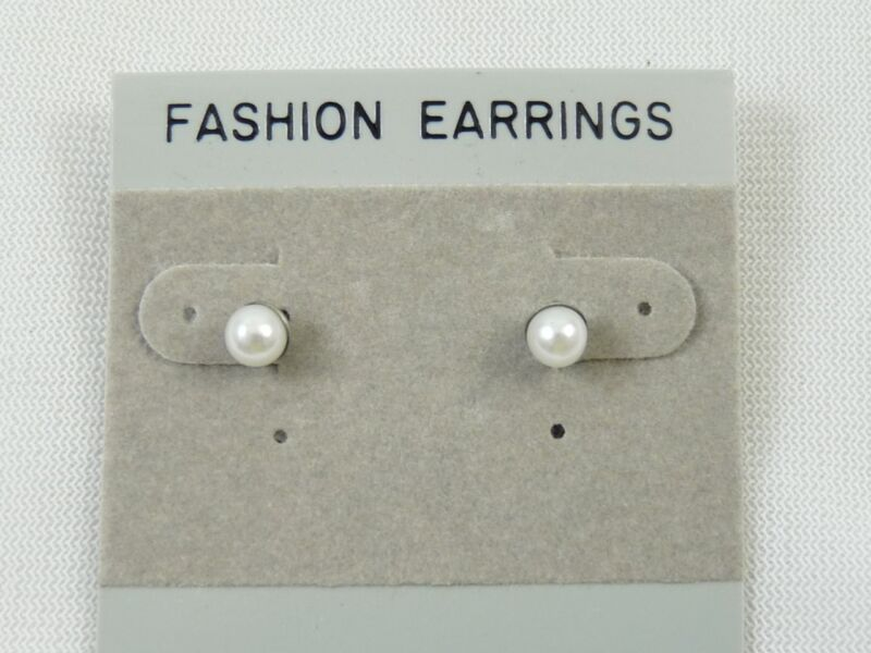 1 Dozen 6mm Pearl Stud Pierced Earrings Wholesale Priced
