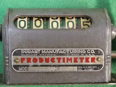 Durant 5h11r 5 Digit Rotary Mechanical Stroke Counter Meter Strike Counting