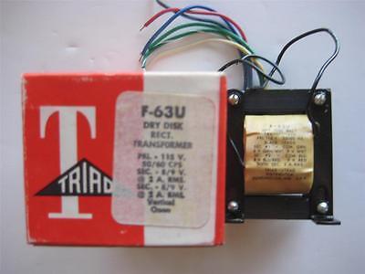 Triad Dry Disc Transformer F-63u Dual Sec 89 Vac 2 Amp Primary 115 V Nos