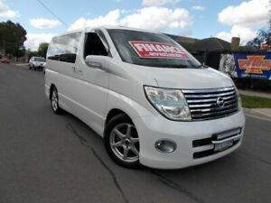 2006 Nissan Elgrand E51 Highway Star White 5 Speed Automatic Wagon Bayswater North Maroondah Area Preview