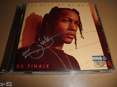 BEST OF DJ QUIK autograph SIGNED CD   da finale amg CHUCKEY suga free peter
