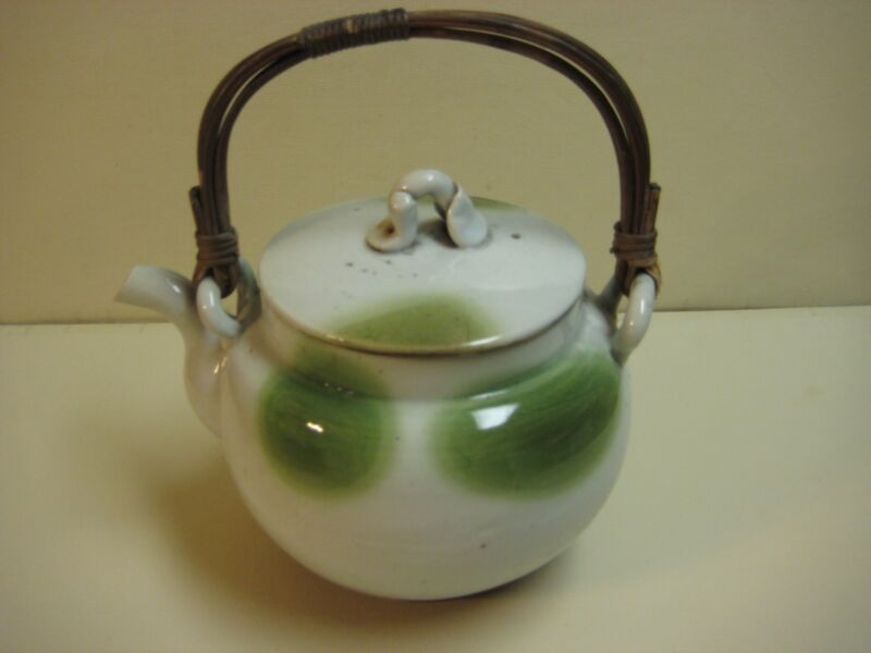 "Vintage Japanese Pottery Teapot, Signed, 8"" Tall & 10"" Widest (Rare)"
