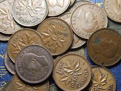 1948 CANADIAN SMALL CENTS KING GEORGE VI        BUY ONE OR BUY THEM ALL