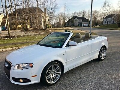 2009 audi a4 cabriolet convertible premium plus low miles used audi a4 for sale in toms. Black Bedroom Furniture Sets. Home Design Ideas