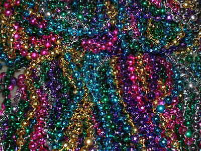 72 (6 DOZEN) MULTI-COLOR MARDI GRAS BEADS/NECKLACES-FREE SHIPPING!-PARTY FAVORS (Party Beads)