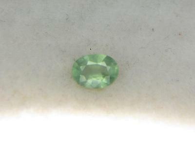 1.32CT NEW COLOR SUPER RARE COLLECTOR GEM GREEN FACETED MADAGASCAR KYANITE
