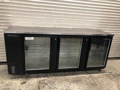 91 3 Glass Door Back Bar Beer Display Cooler True Refrigerator Tbb-4g 2106 Nsf