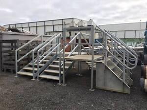 GALVANISED STEEL STAIRS - SUIT TRANSPORTABLES, PIPE CROSSING, ETC Kewdale Belmont Area Preview