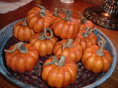 6 Faux Little Pumpkins Fixins Harvest Autumn Crafts Naturals Primitive Lodge
