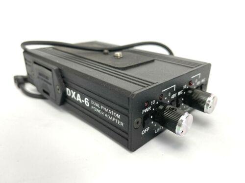 Beachtek DXA-6 Phantom Power 48V Dual Lo-Z XLR Mic Adapter for DSLR & Camcorder