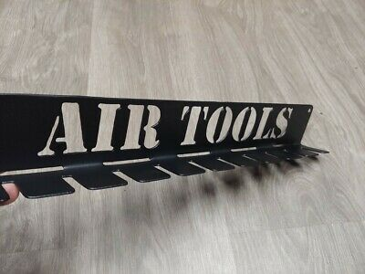Air Tool Holder for shop tools. Pneumatic tool organizer shop or garage! BLACK
