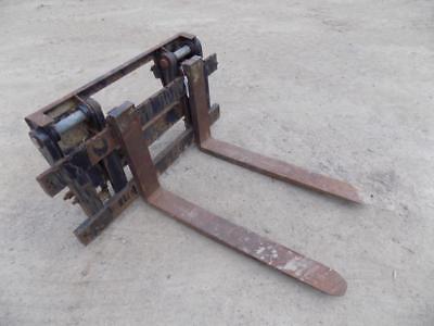 44 Wheel Loader Forks Wcaterpillar Quick Coupler Skid Steer Quick Attach