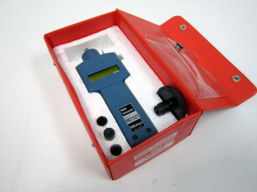 MITUTOYO 982-521 DIGITAL TACHOMETER WITH FOUR ATTACHMENTS