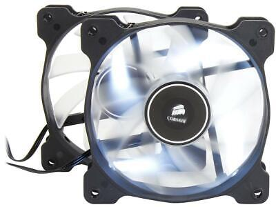 Corsair Air Series AF120 LED 120mm Quiet Edition High Airflow Fan Twin Pack - (Corsair Air Series Af120 Led Quiet Edition)