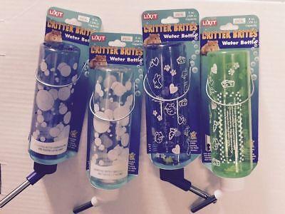 Lixit Critter Brites assorted water bottle 8oz Hamster Gerbil & Other Animals Critter Brite 8 Oz Bottle