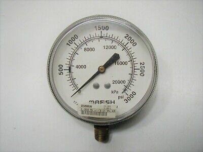 Marsh Marshalltown 0 - 3000 Psi Pressure Gauge Aircraft Tools