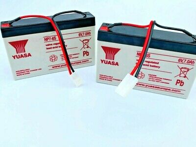 2 x Genuine Microcat/Technicat 6 volt 7amp hour Bait Boat Batteries 'YUASA'