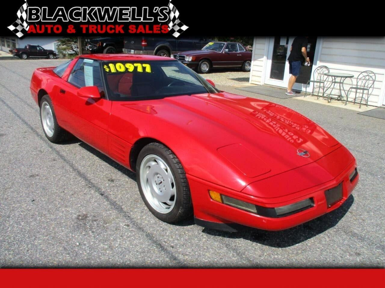 1991 Red Chevrolet Corvette Coupe    C4 Corvette Photo 1