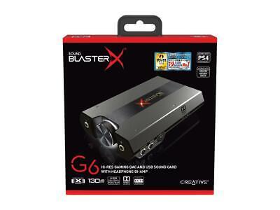 Creative Sound BlasterX G6 7.1 External USB Sound Card