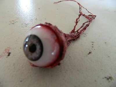 HALLOWEEN HORROR Movie PROP RIPPED OUT EYEBALL Gray!