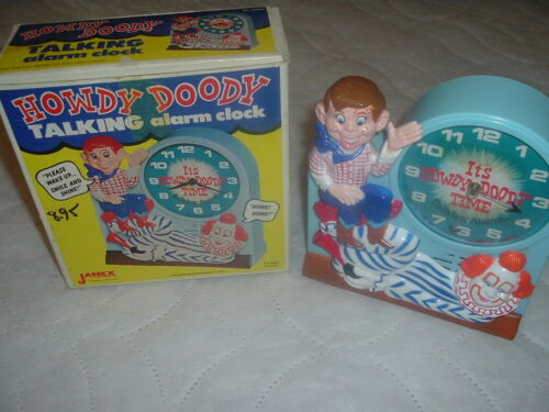 Working Collectible Janex Howdy Doody Talking Alarm Clock,Its Howdy Doody Time.